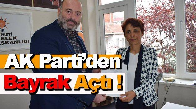 AK Parti'de İlk Kadın Aday Adayı Sahaya İndi !