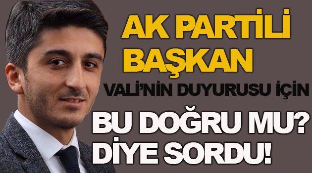 AK Partili isimden ilginç soru!