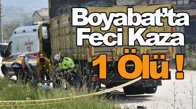 Boyabat'tan üzücü haber !