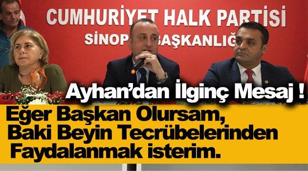 CHP'li Ayhan'dan Dikkat Çekici Mesaj !