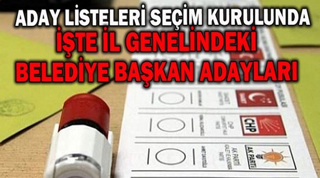 Geçici aday listeleri seçim kurullarında