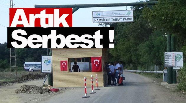HAMSİLOS GEÇİŞ ÜCRETİ KALDIRILDI!