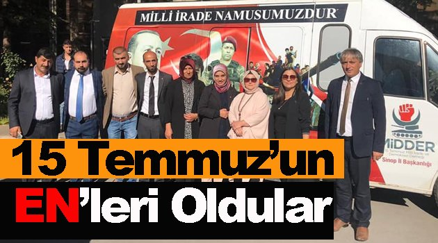 MİDDER Sinop, 2018 yılının en başarılı şubesi seçildi