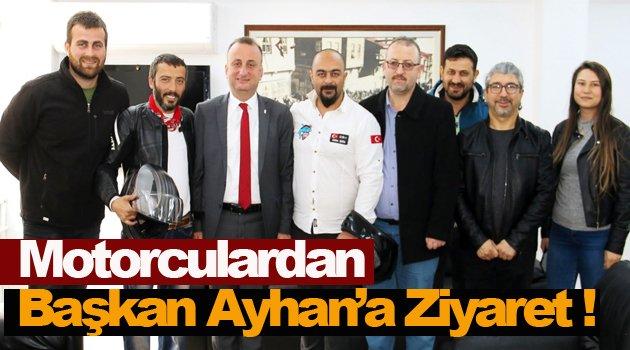 Motor Sporlarından Başkan Ayhan'a Ziyaret !