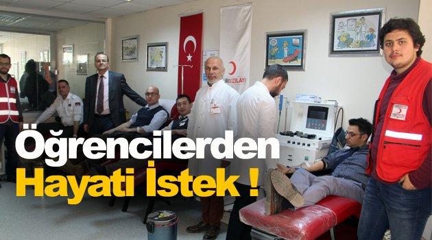 Öğrenciler kan bağışı için destek istedi