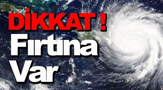 Sinop İçin Fırtına Uyarısı !