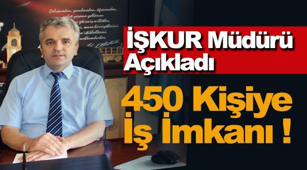 Sinop'ta 450 kişiye istihdam sağlanacak