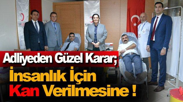 Sinop'ta adliye personeli kan bağışında bulundu