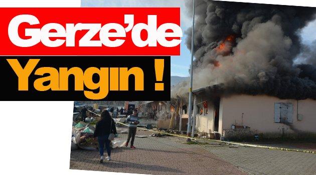 Sinop'ta balık satış mağazalarında yangın