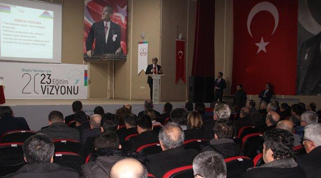 Sinop'ta eğitim değerlendirime toplantısı yapıldı