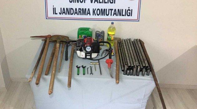 Sinop'ta kaçak kazı operasyonu