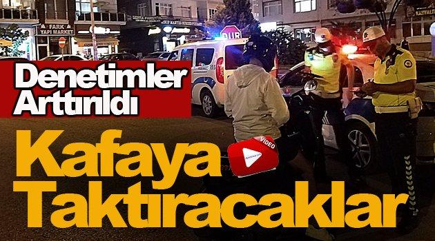 Sinop'ta kask denetimleri arttırıldı !