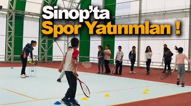 Sinop'ta spor yatırımları