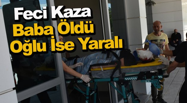 Sinop'ta traktör devrildi: 1 ölü, 1 yaralı