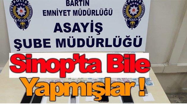 Sinop'ta yankesicilik yaptığı iddia edilen 5 kişi Bartın'da tutuklandı