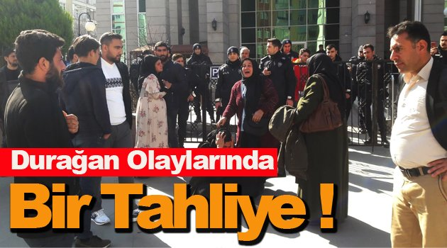 "Sinop'taki ""Durağan olayları"" davasında bir tahliye !"