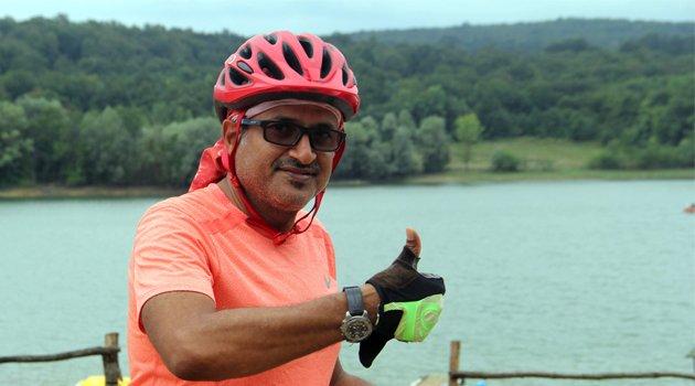 Suudi Arabistanlı Tarik bisikletle Türkiye turunda