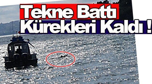 Tekne ile gittiler, yüzerek döndüler !