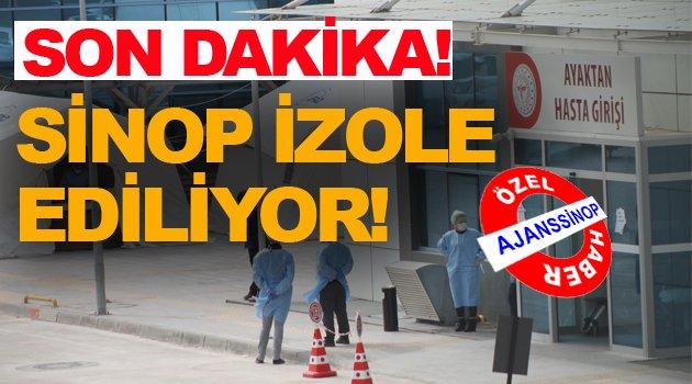 Sinop 'ta koronavirüsü için yeni önlemler alındı!