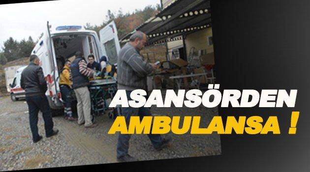 Sinop'ta asansör kazası: 2 yaralı