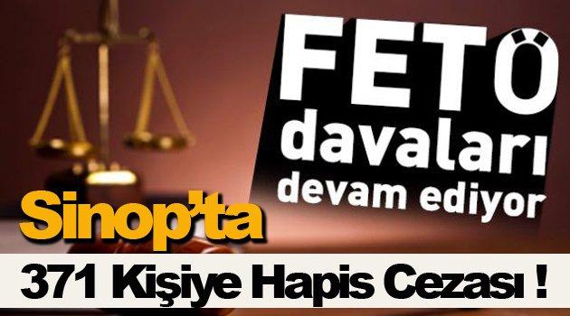 Sinop'ta FETÖ davalarında 371 sanığa hapis cezası