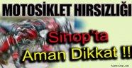 Aman Dikkat !!! Motosiklet Hırsızları Sinop'ta