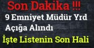 Sinop'ta 9 Emniyet Müdür Yrd Açığa Alındı