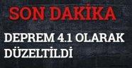 KANDİLLİDEN DÜZELTME ; DEPREM 4.1