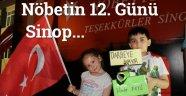 Sinop'ta Demokrasi Nöbeti Devam Ediyor