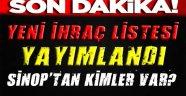 İşte Sinop'ta Son İhraç Edilenlerin Listesi