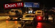 SİNOP'TA DON SEBEBİ İLE YOL TRAFİĞE KAPANDI