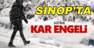 Sinop'ta Eğitime Kar Engeli!