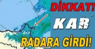 Sinop'a Gelen Kar Radara Girdi!