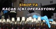 Sinop'ta kaçak içki ve silah operasyonu