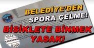 Sinop Belediyesinden Spora  Çelme!