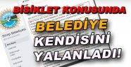 SİNOP BELEDİYESİ KENDİSİNİ YALANLADI!