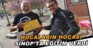 """Sinop'ta """"motosiklet ileri sürüş"""" eğitimi"""