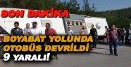 Sinop'ta yolcu otobüsü devrildi 9 yaralı