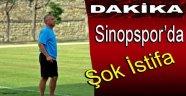 SİNOPSPOR'DA ŞOK İSTİFA