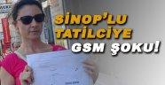 Sinop'lu tatilci gelen faturayı görünce şok oldu