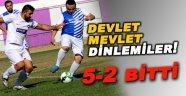 Sinop'ta oynanan dostluk maçı 5-2 bitti