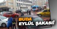 Sinop'ta sağanak yağış