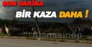 Sinop'ta otomobil takla attı 1 yaralı