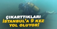 Denize bırakılan av malzemeleri temizleniyor