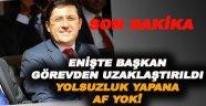 Beşiktaş Belediye Başkanı görevden alındı!