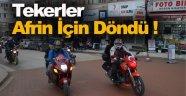 Sinop'ta Motorcular Afrin İçin Teker Döndürdü !