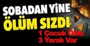 Sinop'ta karbonmonoksit zehirlenmesi: 1 ölü, 3 Yaralı