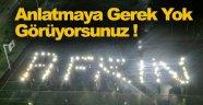 Sinop'ta Işıklarla Afrin Yazdılar !