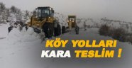 Sinop'ta bazı köy yolları kara teslim oldu !