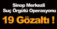 Sinop merkezli organize suç örgütü operasyonu